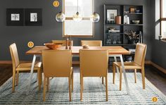 See why our Cass dining table works in this modern and functional space.
