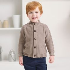 Knitted Baby Cardigan for boys -Cardigans and sweaters for kids | Dave Bella Kids Clothes