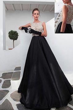 Top Quality Beaded Chiffon Sleeveless Prom Dresses