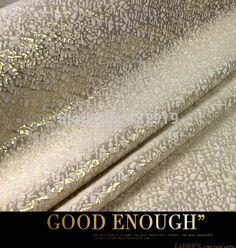 free shipping    Advanced customization  Gold brocade jacquard fashion fabrics dyed golden autumn haute couture fabrics