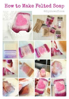 How to Make Felted Soap @diyshowoff.com #michaelsmakers