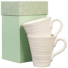 Sophie Conran for Portmeirion. Possibly the perfect mug for drinking out of: not-too-thick china, BIG, pleasing texture.