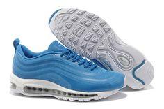 Heren Nike Air Max 97 CVS Running Sneaker Stijlvolle Hemelsblauw Wit Metaal-Zilver,HOT SALE!