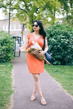 Entrepreneur and Blogger Supal of @chevronseclairs sings praises of the wrap dress from this orange jersey number, ruched dressed and printed maxi dresses over on the Boden blog.