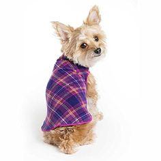 Gold Paw Stretch Fleece Dog Coat - Soft, Warm Dog Clothes, Stretchy Pet Sweater - Machine Washable, Eco Friendly - All Season - Sizes Mulberry Plaid, Size 14 Fleece Dog Coat, Pet Dogs, Pets, Dog Pin, Dog Items, Dog Sweaters, Dog Coats