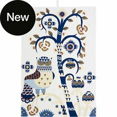 Taika kitchen towel 47 x 70 cm by Klaus Haapaniemi for iittala. Also available in blue. www.iittala.com.