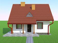Elewacja frontowa projektu Deko w2 Gazebo, Outdoor Structures, Outdoor Decor, House, Home Decor, Deco, Projects, Kiosk, Decoration Home