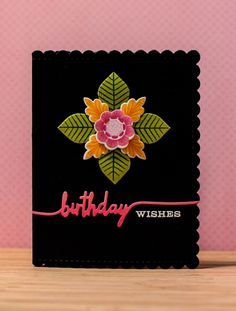 PTI Lovely Layers + Swoosh Birthday card - Random Reflections Blog