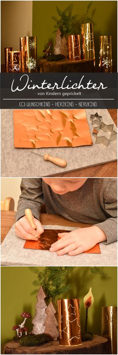 Tingling with children - a winter light - Wintry craft idea. Tingling with children. A wintry tingle with glossy film. Christmas Crafts For Kids, Winter Christmas, Xmas, Light Crafts, Winter Art, Decoration, Handicraft, Diy For Kids, Montessori