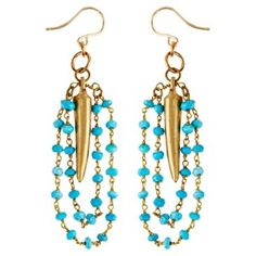 Check out this item at One Kings Lane! Karibu Earrings, Turquoise
