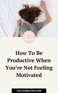 Have you ever wondered how to be productive when you don't feel motivated at all? Here is a list of the many ways you can boost your productivity when you're not feeling motivated based on everything I've learned through going through it myself. Self Development, Personal Development, Productive Things To Do, How To Stop Procrastinating, Quitting Your Job, Time Management Tips, Good Habits, Busy Life, Love Your Life