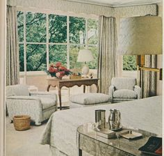 Harding and Mary Well Lawrence's master bedroom in Dallas decorated by Billy Baldwin