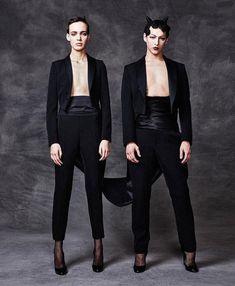 Violet Chachki, Androgynous Fashion, Androgyny, Fashion Art, High Fashion, Male Fashion, Madonna Vogue, Moschino, Club Kids