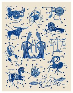 Zodiac illustration by Teresa Grasseschi