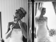 Sarah wore a classic wedding veil complimenting the intricate detailof her wedding gown.