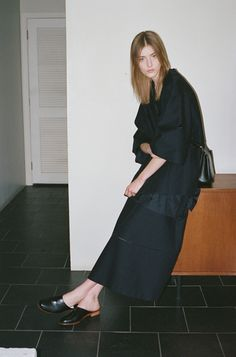 Kodachrome: The Row Harim Jacket, Muniz Top, Sprecher Skirt, Hunting Bag II; Martiniano Low Mule