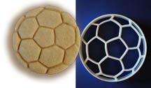 Soccer ball cookie cutter