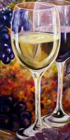 Wine for Two, by Artist Gale Patterson, oil on canvas Simple Oil Painting, Oil Painting Texture, Wine Painting, Easy Canvas Painting, Canvas Art, Blank Canvas, Glass Photography, Wine Art, Paint And Sip