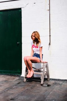 Camille Rowe (So It Goes Mag Issue3;Behind The Scenes)  photograph by Guy Aroch