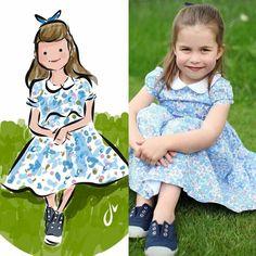 by Sophie & Lili. Princesa Charlotte, Duchess Kate, Duchess Of Cambridge, Kate Middleton, Fall Sewing, British Royal Families, New Kids, British Royals, Princess Diana