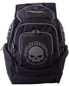 HarleyDavidson Mens Skull Backpack BP1924SBLACK *** This is an Amazon Affiliate link. Click image for more details.