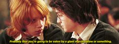 """Book Quotes - Harry Potter and the Order of the Phoenix.  Prof. Trelawny: """"Divide into pairs and use the Dream Oracle to interpret each other's most recent dreams.""""  Ron: """"I had one that I was playing Quiddich the other night. What do you think that means?"""""""