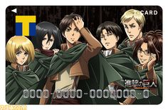 """Ok, no fair, I want my card to have all these guys striking ridiculous, typical """"cool"""" poses (especially Eren, my immediate thought was of a typical shoujo protagonist) 