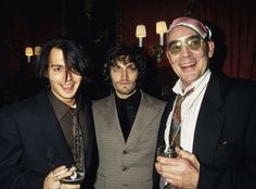 Johnny Depp, Vincent Gallo, and Hunter Thompson in 1996 (my God, what an incredible photo).