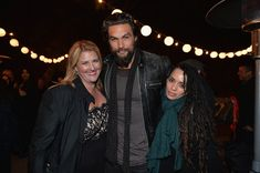 "Jason Momoa Photos Photos - Executive Producer Bridget Carpenter, actor Jason Momoa and actress Lisa Bonet attend a screening of Sundance Channel's ""The Red Road"" at The Bronson Caves at Griffith Park on February 24, 2014 in Los Angeles, California. - Screening Of Sundance Channel's ""The Red Road"""