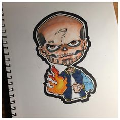 El Diablo from the Suicide Squad. I really enjoyed the movie. #eldiablo #diablo #joker #harleyquinn #deadshot #dc #dccomics #fire #gang #badguy #batman #drawing #art #artwork #illustration #sketch #sketchbook #cartoon #chibi #fanart #movie...