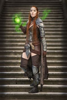 The Elder Scrolls Online cosplay by emilyrosa on DeviantArt The Elder Scrolls, Elder Scrolls Online, Elven Cosplay, Cosplay Armor, Lightning Cosplay, Elf, Detroit Become Human, Cosplay Outfits, Manga