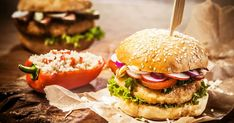Order food for delivery & takeout from the best restaurants in your area with a few clicks. Hamburger Vegan, Hamburger Vegetarien, Tofu, Mango Chile, Real Burger, Curry Shrimp, Homemade Burgers, Order Food, Chutney