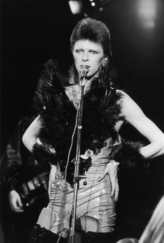 """And then there was Ziggy's """"Angel Of Death"""" costume, which was made of mostly feathers and leather."""