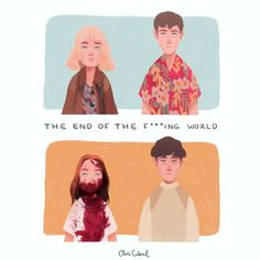 "933 curtidas, 26 comentários - Clarissa Cabral (@claricabral) no Instagram: ""I mean the end of my heart . . #theendofthefuckingworld #netflix #drawing #illustration #fanart…"""