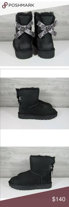 ba6d4672e5e62 UGG Mini Bailey Bow II Exotic Women s Boots NEW These cuties offer all the  luxurious comfort