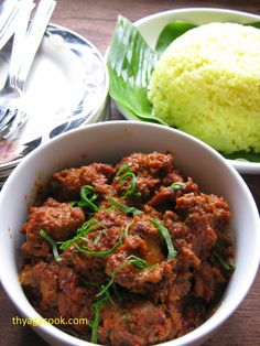 Chicken Rendang With Nasi Pulut Kari Leafs Malaysian Flavour S