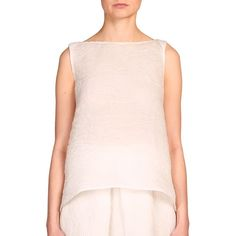 Erdem Joelle Boatneck Trapeze Top ($1,265) ❤ liked on Polyvore featuring tops, apparel & accessories, white, sleeveless crop top, white top, sleeveless tops, white swing top and sleeveless boatneck top