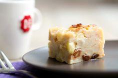 Broodpudding met appel, noten en rozijnen