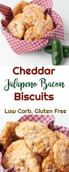 Cheddar Jalapeno Bacon Biscuits - Low Carb, Gluten Free via @PeaceLoveLoCarb