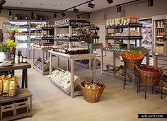 Eco Supermarket 'Ambar' in Moscow // Nadya Zotova | Afflante.com #shop #furniture