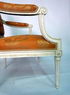 Paire De Fauteuils Epoque Louis XVI, Estampillés Lelarge, Galerie Jean Rey, Proantic