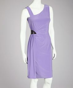 Take a look at this Lilac Asymmetrical Dress - Women by Quiz on #zulily today!