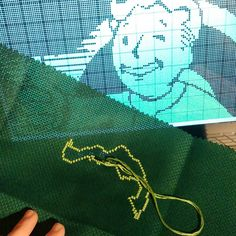 On instagram by 16bitcrossstitch #retrogaming #microhobbit (o) http://ift.tt/1T6EvKa on an awesome new #crossstitch. It will be the biggest cross stitch I've ever done and it will take quite some time but it will be worth it. #Fallout4 #vaultboy  #fallout #xstitch #gaming #pipboy  #retrocollective #xboxone #ps4 #gamechart #girlgamer #girlswhogame #guyswhogame #Nintendo #fallout3 #pipboyedition #chartgame #crossstitchersofinstagram #craft #wip #art #threads #threadart #cool #nerd #geek