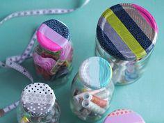 Masking tape - Cute idea for bottle caps