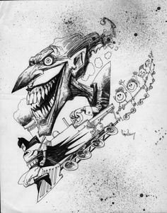 The Joker and Batman by Simon Bisley