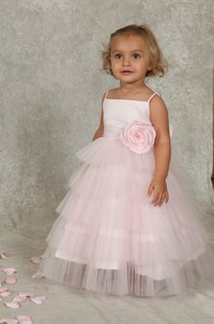 Sweetie Pie Baby and Toddler Flower Girl Dress i421T - I love the bottom of this dress as well. Something like this would be just as cute as the other one. I wonder if we could find the top like the gold one.
