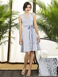 Cocktail length sleeveless bridesmaid dress