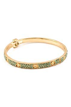 Mint Crystal Cuff Bracelet | Emma Stine Jewelry