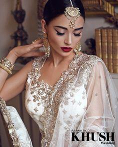 Kaniz Makeup :: Khush Mag - Asian wedding magazine for every bride and groom planning their Big Day makeup indian Indian Makeup Looks, Indian Wedding Makeup, Asian Bridal Makeup, Bridal Makeup Looks, Bridal Hair And Makeup, Bridal Looks, Indian Bridal, Hair Makeup, Pakistani Bridal Makeup