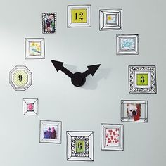Picture Frame Clock Decal This is a cool idea; couldn't help pinning it!